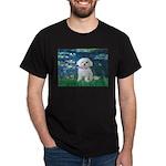 Lilies / Maltese Dark T-Shirt