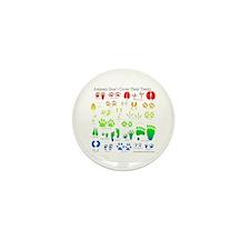 Rainbow 3D Animal Tracks Mini Button (10 pack)