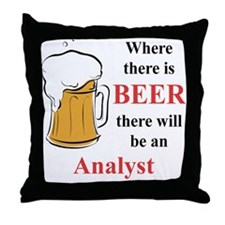Analyst Throw Pillow