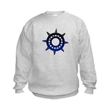 Deep Blue Compass Sweatshirt