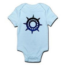 Deep Blue Compass Infant Bodysuit