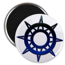 "Deep Blue Compass 2.25"" Magnet (10 pack)"