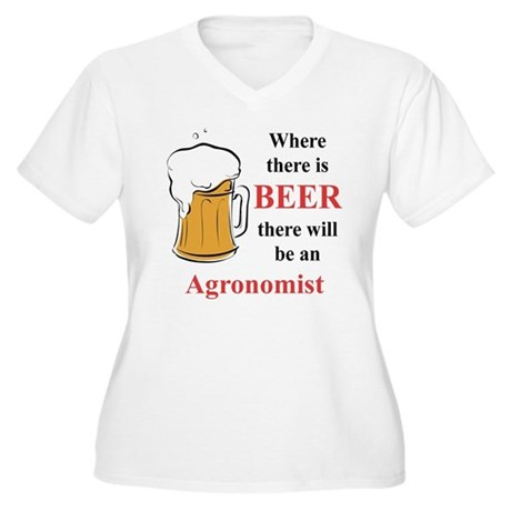 Agronomist Women's Plus Size V-Neck T-Shirt