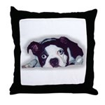 BOSTON TERRIER SWEET DOG Throw Pillow