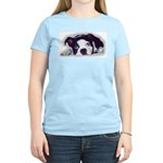 BOSTON TERRIER SWEET DOG Women's Pink T-Shirt