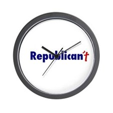 Republican't Wall Clock