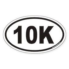 10K Euro Style Oval Bumper Stickers