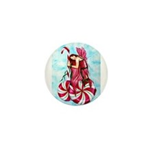 Christmas Fairy Minty Winter Mini Button