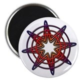 Warm Burst Compass 2.25&quot; Magnet (10 pack)