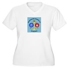 Antwerpen Politie Women's Plus Size V-Neck T-Shirt