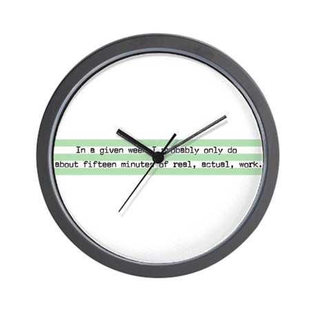 15 Min of Actual Work Wall Clock