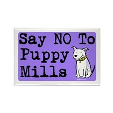 No Puppy Mills Rectangle Magnet