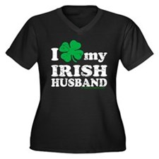 Love My Irish Husband Women's Plus Size V-Neck Dar