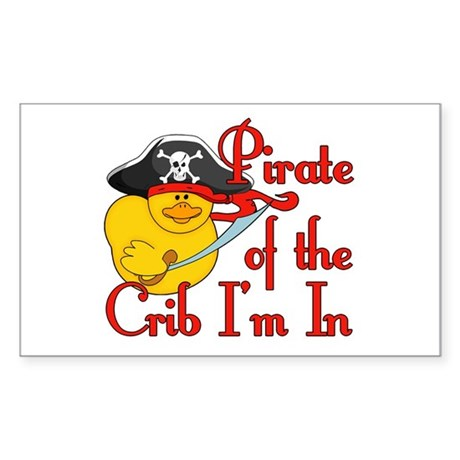 Pirate Crib Rectangle Sticker
