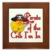 Pirate Crib Framed Tile