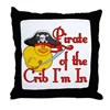 Pirate Crib Throw Pillow