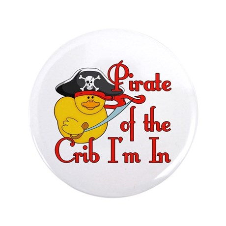 "Pirate Crib 3.5"" Button"