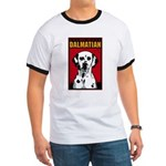 Obey the Dalmatian! Dog 2-Sided Ringer T