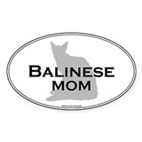 Balinese Mom Oval Decal