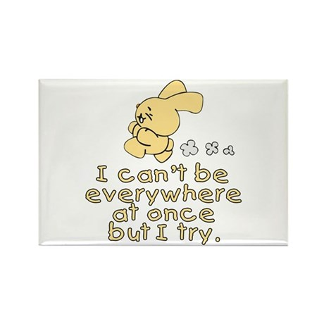 Everywhere Bunny Rectangle Magnet