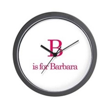 B is for Barbara Wall Clock