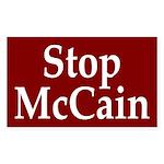 Stop McCain (Anti-McCain Auto Sticker)