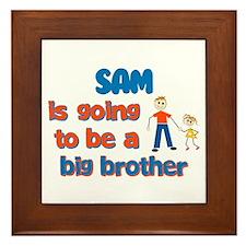 Sam - Going to be Big Brother Framed Tile