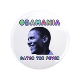 "Barack Obama 2008 - OBAMANIA 3.5"" Button"
