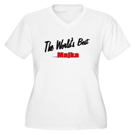 """The World's Best Majka"" Women's Plus Size V-Neck"