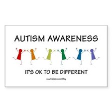 Autism Difference Rectangle Decal