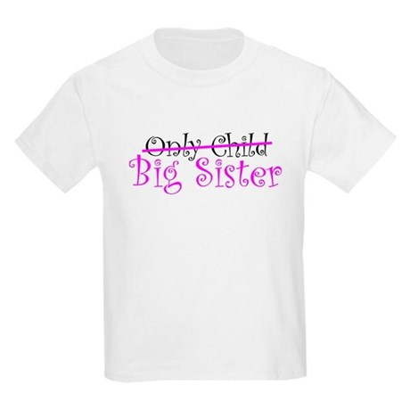 Only Child - Big Sister Kids Light T-Shirt