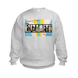 Elizabeth New Jersey Greetings (Front) Sweatshirt