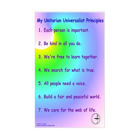 UU Principles Rectangle Sticker