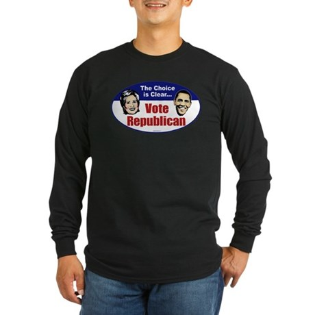 The Choice is Clear Long Sleeve Dark T-Shirt