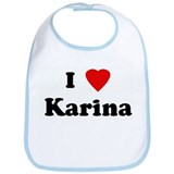 I Love Karina Bib