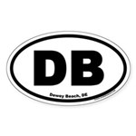 Dewey Beach, DE Oval Sticker