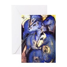 Blue Horses by Franz Marc Greeting Card