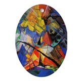 Tirol by Franz Marc Oval Ornament