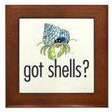 hermit crab Framed Tile