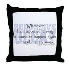 Recursive Decay Throw Pillow