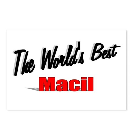 """The World's Best Macil"" Postcards (Package of 8)"