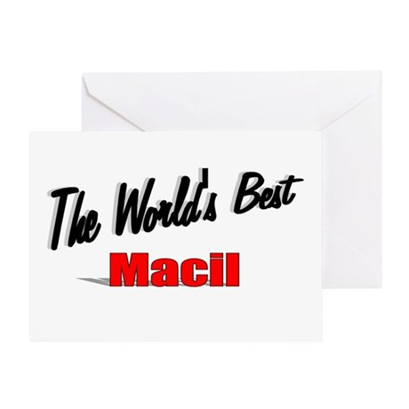 """The World's Best Macil"" Greeting Card"