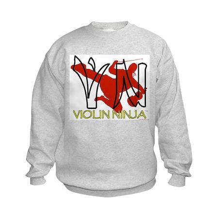 Violin Ninja Kids Sweatshirt