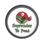 Surrender Ye Peas Pirate Wall Clock