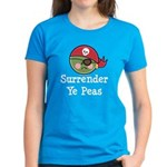 Surrender Ye Peas Pirate Women's Dark T-Shirt