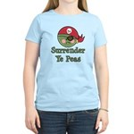 Surrender Ye Peas Pirate Women's Light T-Shirt