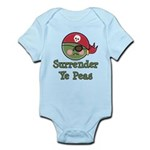 Surrender Ye Peas Pirate Infant Bodysuit