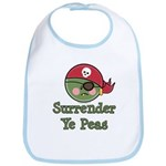 Surrender Ye Peas Pirate Bib
