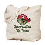 Surrender Ye Peas Pirate Tote Bag