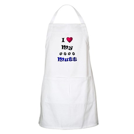 I Love My Mutt Apron